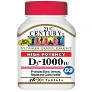 21st Century D3-1000 IU 110 tabs