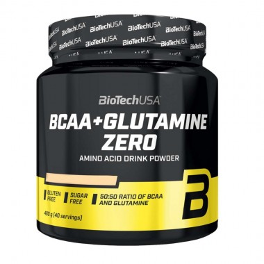 Biotech USA BCAA + Glutamine Zero 480 грам, комбінація амінокислот BCAA і L-глютаміну