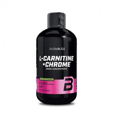 Biotech USA L-Carnitine + Chrome 500 мл, рідкий l-карнітин, збагачений хромом і вітаміном B₅
